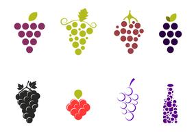 Pacote de vetores de uvas grátis