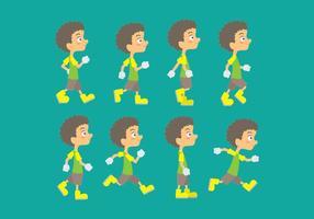 Ícones do ciclo de caminhada vetor