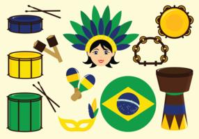 Ícones de vetor de samba