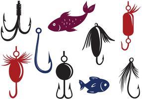 Vetores livres de atração de pesca