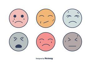 Rostos de aflição de sorrisos vetor