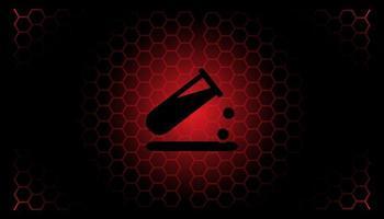 fundo de banner de perigo em química e ciência vetor