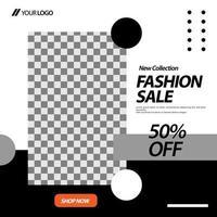layout de venda de moda e modelo de banner