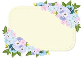 Flores Pansy e Molde em Branco vetor