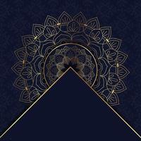 mandala elegante de ouro vetor