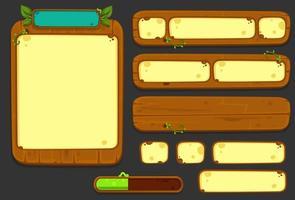 conjunto de elementos de interface do usuário para o tema da selva - parte 2 vetor