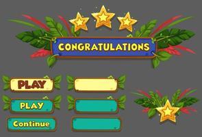 conjunto de elementos de interface do usuário, tela de ganho de nível - parte 5 vetor