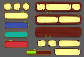 conjunto de elementos, botões e painéis da interface do usuário - parte 2 vetor