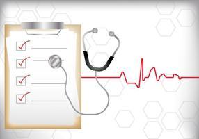 Pad de prescrição vetorial médico vetor