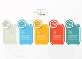 infográfico padrão com cinco opções vetor