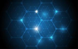 hexágono de tecnologia abstrato de alta tecnologia