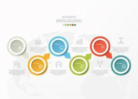 infográfico padrão com seis opções