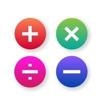 conjunto de ícones de símbolos matemáticos vetor