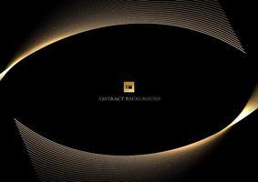 fundo abstrato do projeto da curva do ouro da linha brilhante vetor
