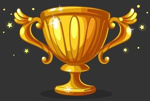 taça troféu de ouro de campeão vetor