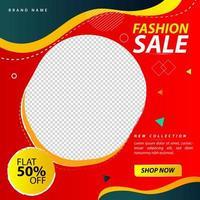 novo design de postagem de mídia social de venda de moda vetor