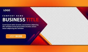 modelo de banner gradiente da web para negócios corporativos vetor