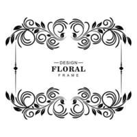 ilustração de moldura floral artística decorativa vetor