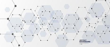 abstrato base de tecnologia de hexágono conectado