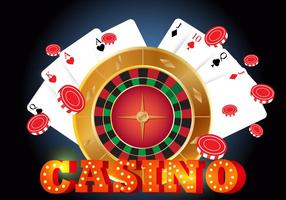 Roda da fortuna com cartão vetor