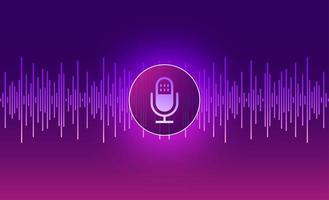 design de tecnologia de voz vetor