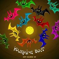 desenho fantasma de morcego vampiro vetor