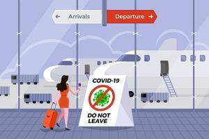 aeroporto covid-19 terminal vetor