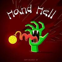 mão do desenho fantasma vetor