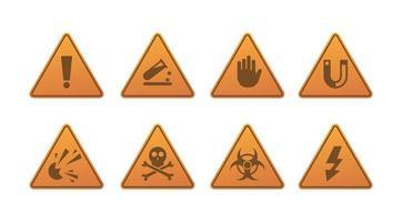 sinais de perigo, aviso e atenção vetor