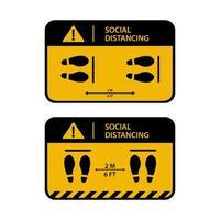 conjunto de banner de design de distanciamento social vetor