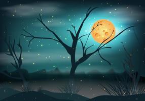 Pântano no fundo da noite vetor