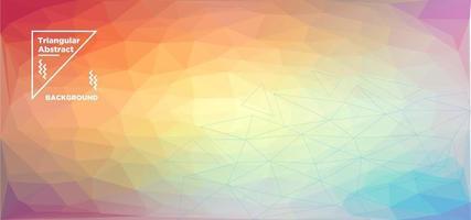 fundo poligonal triangular gradiente amarelo e vermelho