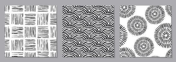 grunge abstrato texturas quadriculadas padrão sem emenda vetor