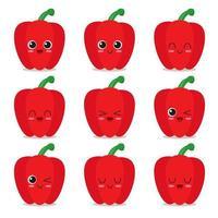 coleção de personagens de pimenta vetor
