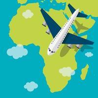 conceito de viagens do continente vetor