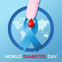 banner do dia mundial da diabetes vetor