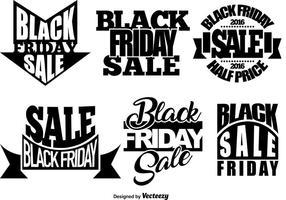 Conjunto de modelos de Sexta-feira Negra vetor