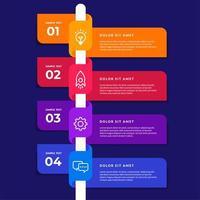 infográfico de linha do tempo de fita colorida