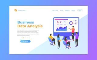 modelos de design de página da web para análise de dados