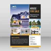 bloco modelo de design de brochura imobiliária vetor