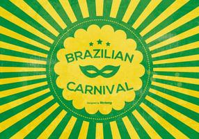 Cartaz do carnaval brasileiro vetor