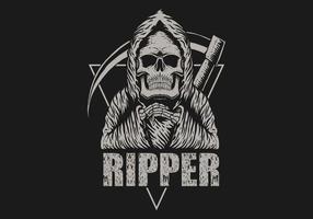 ripper grim reaper illustration vetor