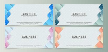 banners coloridos abstratos de formas onduladas vetor