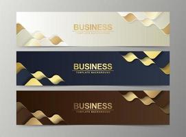 conjunto de modelos de web design de banner abstrato de luxo vetor