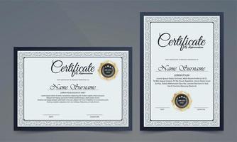 conjunto de certificado de borda decorativa vetor