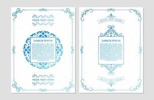 cartão antigo branco e azul vetor