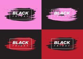 banners de venda de sexta feira negra em pincelada