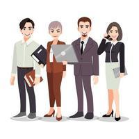 homens e mulheres de negócios vetor