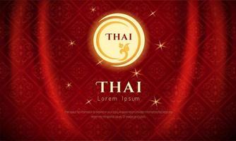 luxo vermelho tailandês fundo tradicional vetor