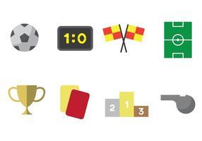 Conjunto de ícones do Futsal vetor